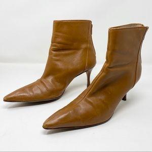Manolo Blahnik Tan Leather Booties